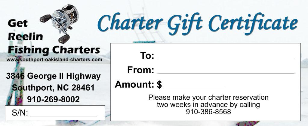 gift certificates get reelin fishing chartersget reelin fishing